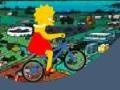Игра Lisa Simpson Bicycle онлайн - игры онлайн