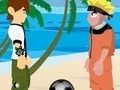 Игра Naruto and Ben 10 play volleyball онлайн - игры онлайн